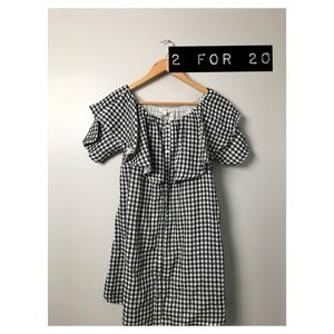 Umgee off the shoulder gingham dress